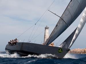 Fast yacht sailing
