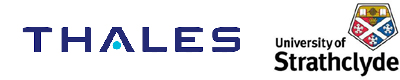 Thales and University of Strathclyde logos
